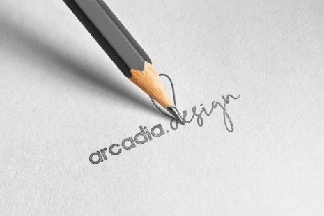 arcadia.design pencil logo mockup